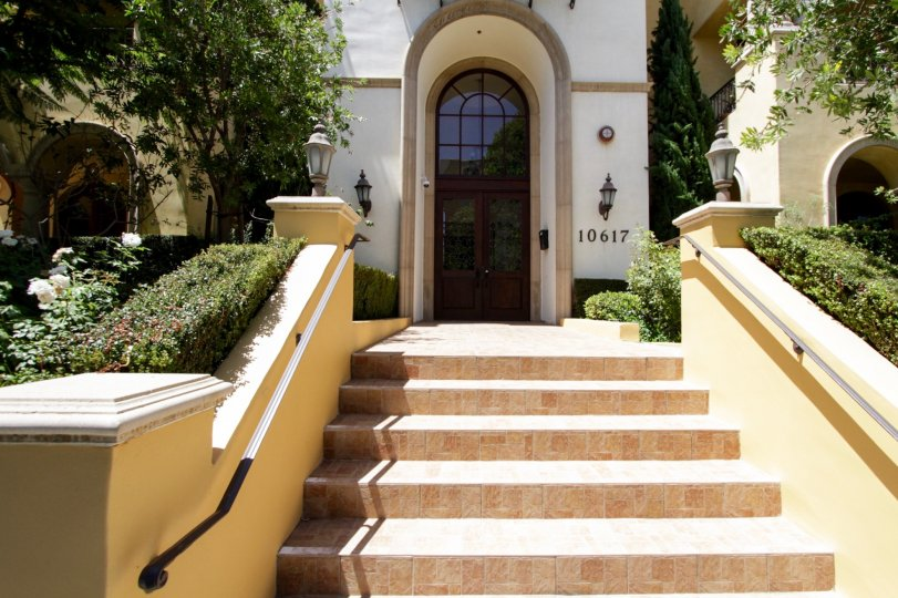 The stairs up to the Tuscany Villas in Westwood