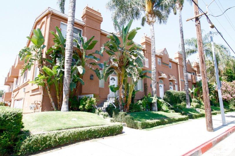 The sidewalk around the Corbin Villas in Winnetka California