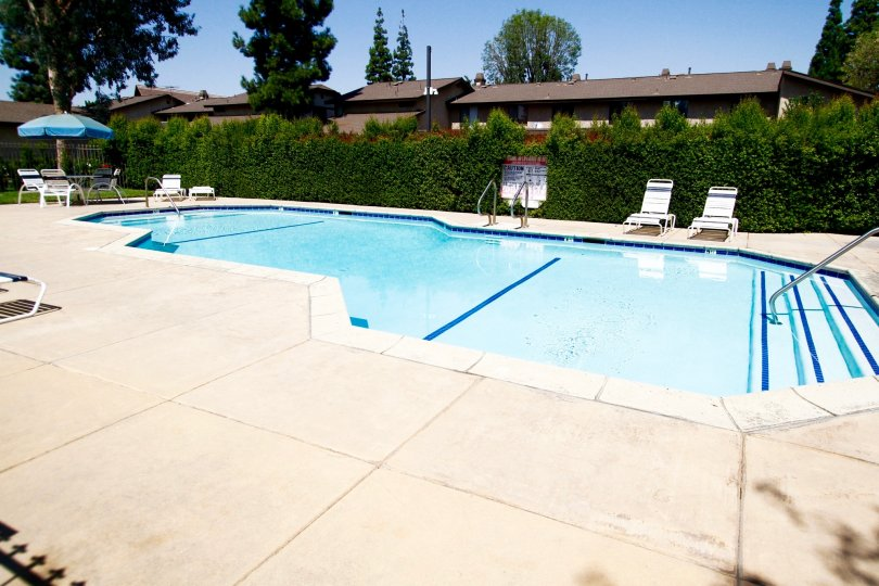The pool at Valley West Townhomes in Winnetka California