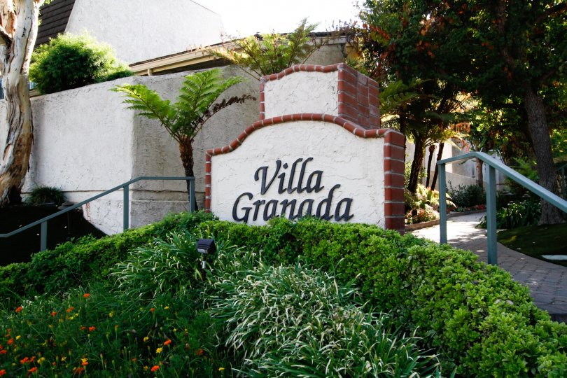 The sign for Villa Granada in CA California