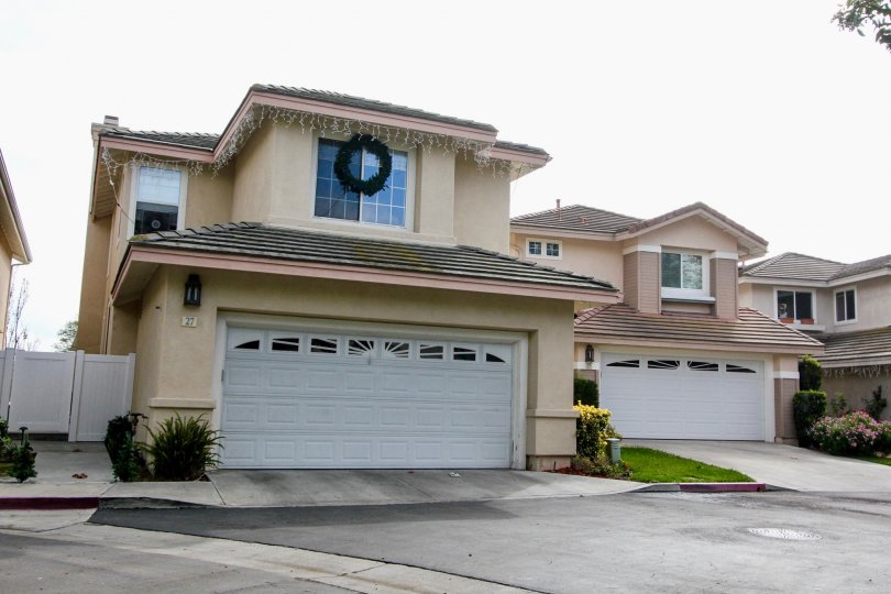 Cottages a community with curb appeal in Aliso Viejo, California.