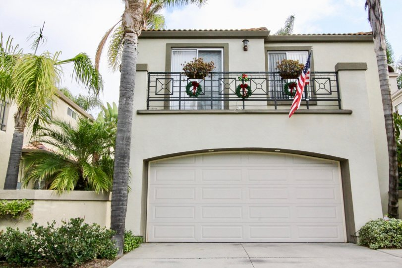 Colorful and beautiful building with an American Flag in the Island community, Aliso Viejo, California