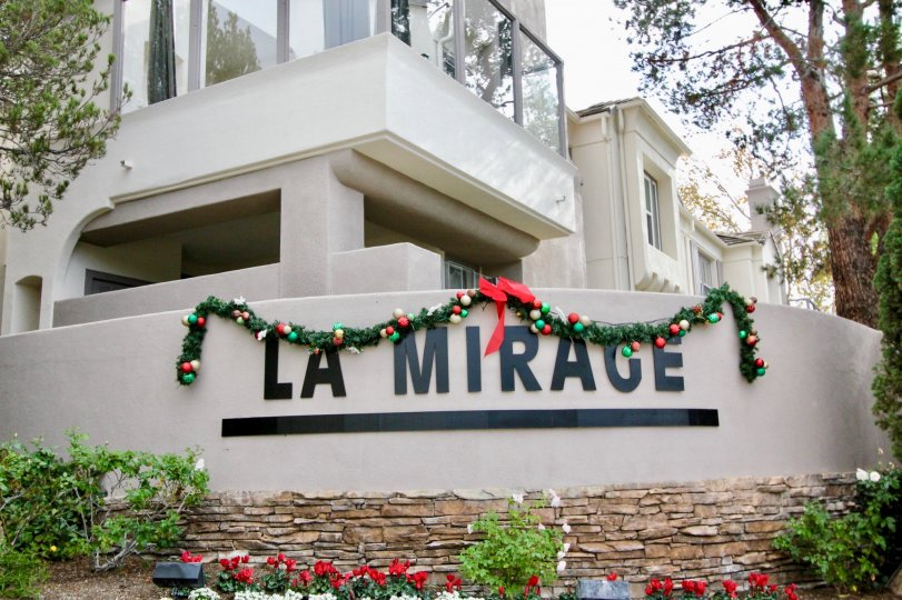 Christmas decorations at La Mirage in Aliso Viejo, California