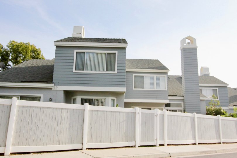 Laureimont's beautifully made apartments with a wooden fence, Aliso Viejo, California