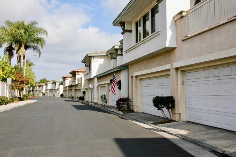 A street view of Orleans a community in Aliso Viejo, California.