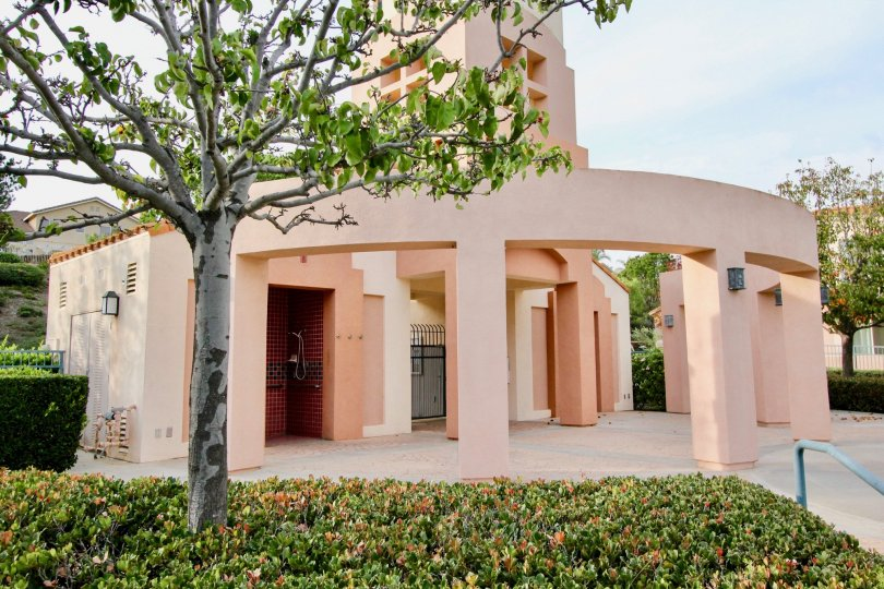 a sunny day in the seacove villas with house that has round four way passage