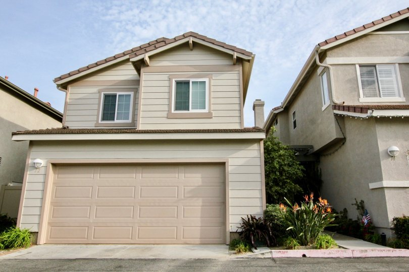 A curb view of a home in The Pointe community in Aliso Viejo, California.