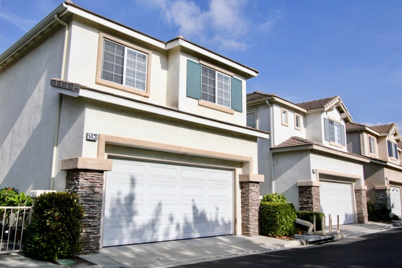 Victoria a community with enclosed garages in Aliso Viejo, Callifornia.
