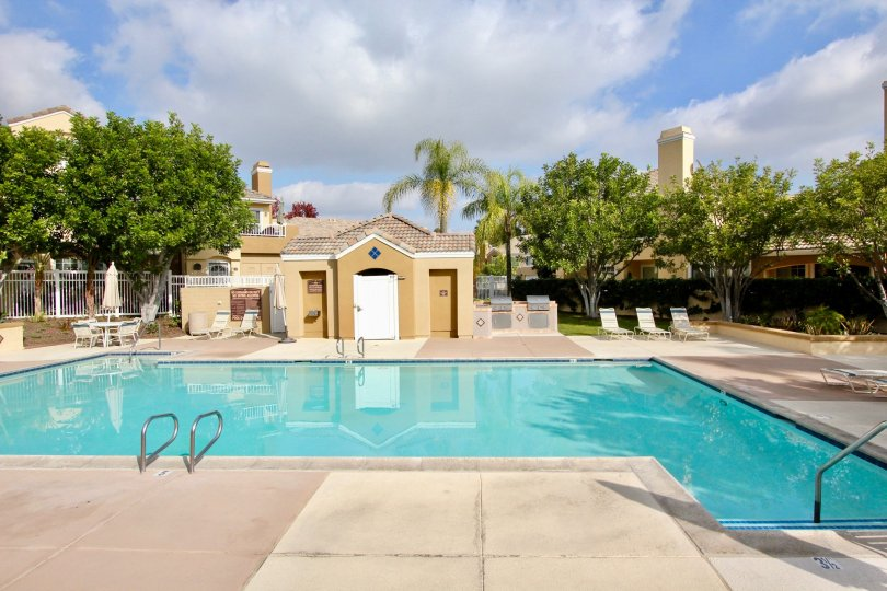 A good day for a swim in the pool at Villas South in Aliso Viejo, CA