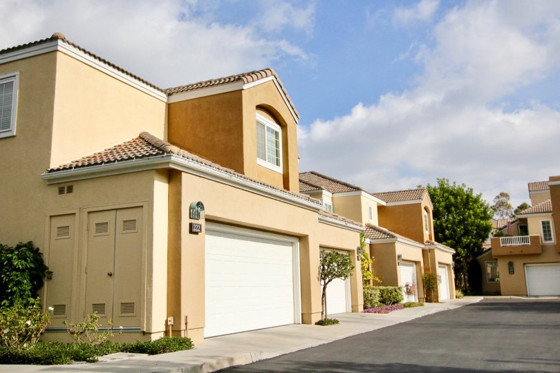 Secured parking in the Villas South community in Aliso Viejo, California.