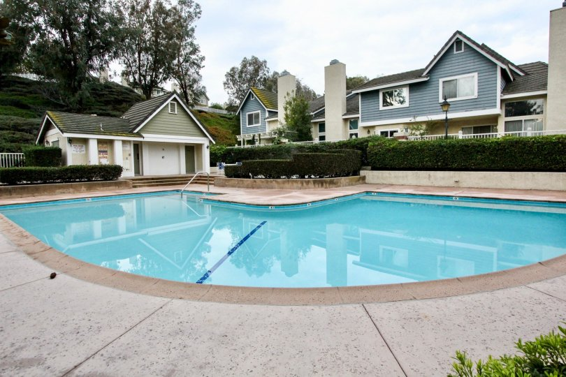 The Embassy Pointe in the Anaheim Hills with Houses and Swimming Pool