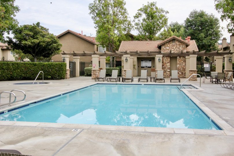 Laurelwood at Sycamore Canyon Building have swimming pool in Back side of house