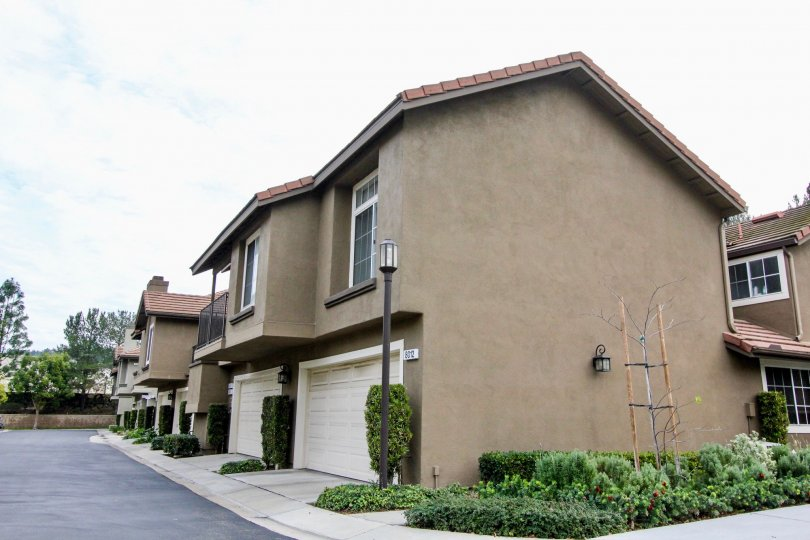 Laurelwood at Sycamore Canyon house side view at Anaheim Hills in califorina