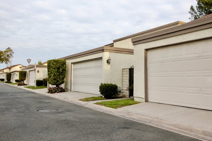 Five garages of Rancho Yorba in Anaheim Hills, California