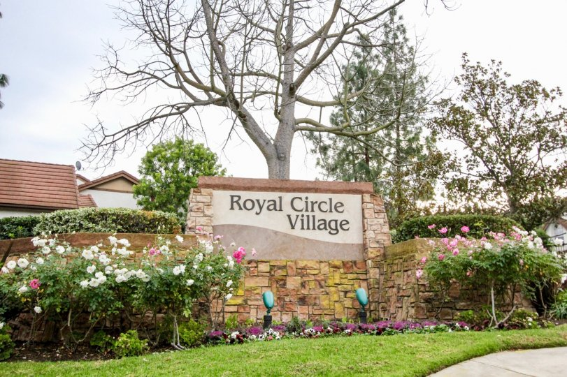 Royal Circle Village with green garden location at garden grove