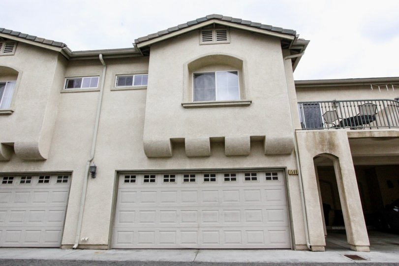 A front view of a two-storey unit in Citrus Villas community with decorative eaves.