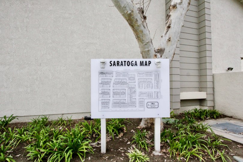 A very helpful map of the buildings in Saratoga in Anaheim