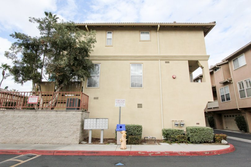 THIS IS THE SIDE VIEW OF APARTMENT LOCATED IN ANAHEIM CITY, PLANTS TREES ARE THERE