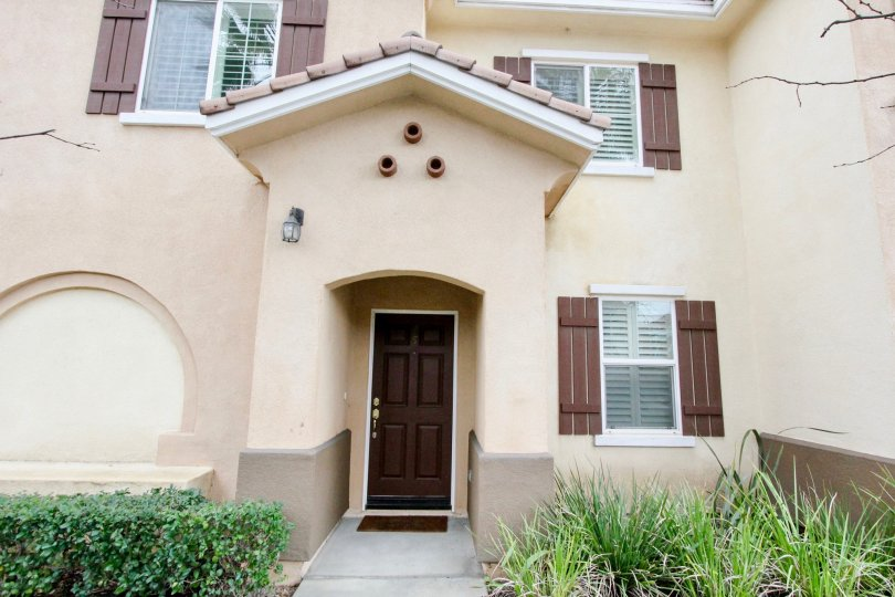 western style townhouse in the Villa de Euclid community in Anaheim California