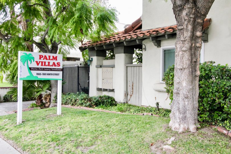 The Buena Park Luxury Townhomes in Palm Villas of the ninth street from 7065-7081