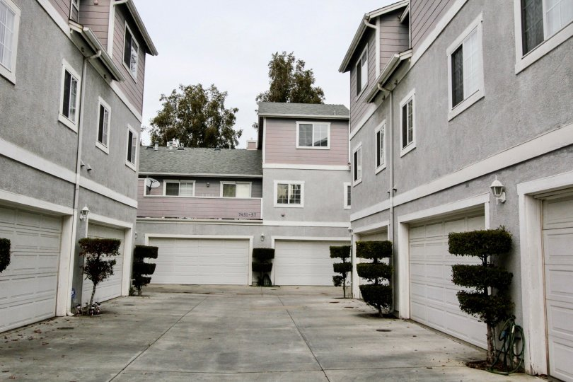 THIS IMAGE SHOWS THE APARTMENT WITH PLANTS, PATHWAY WHICH IS LOCATED IN BUENA PARK