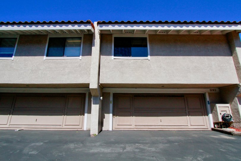 Fairview Village Costa Mesa California picture taken from low angle and building looks broader