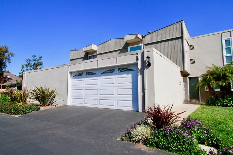 A residential area that is unique with garage in the Newport Riviera community.