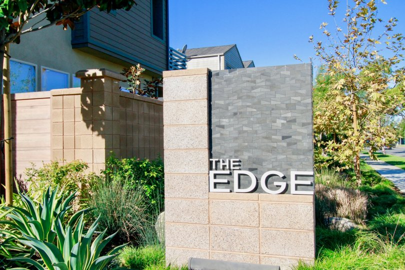 The Edge houses is very residential area with entrance name board and also with lots of trees and plants.