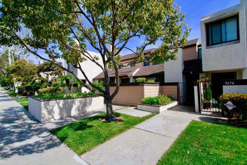 Close view of Beautiful Structures in Bowers Condominiums, Cypress, California