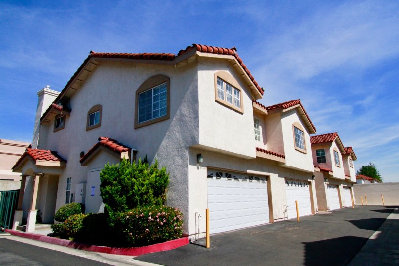 Picturesque day in the Grand Lincoln Village community in Cypress, California.