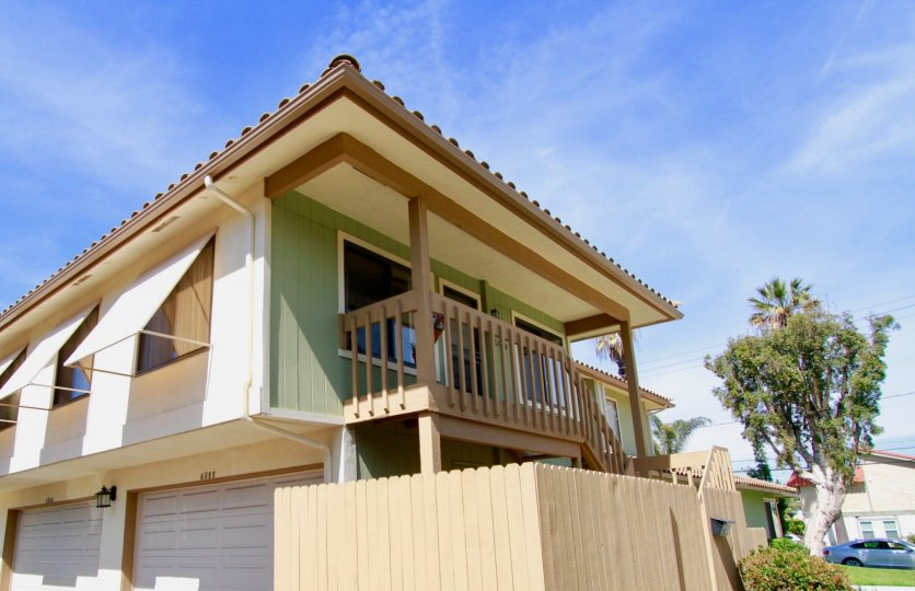 Blue skies over a residence in the Meadowbrook Cypress community in Cypress, California.