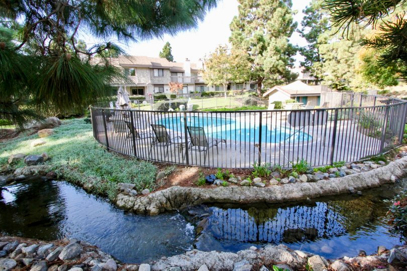 Beautiful Pool at Old Mill Pond Community in Dana Point, California