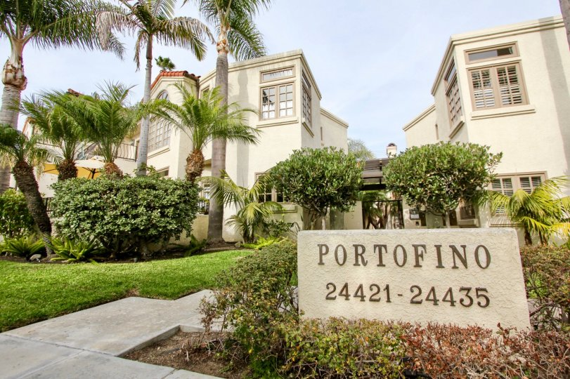 a warm day in the portofino with house that has numbered 24421-24435