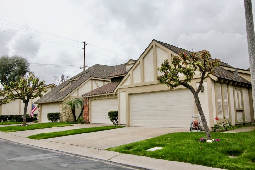 Multiple Garages next to each other at Kingsbriar Fountain Valley, CA