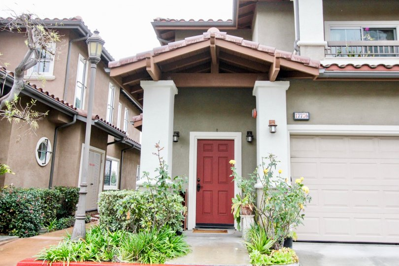 Liberty Founder of Village Fountain Valley California designer roofing technology with contrast color door