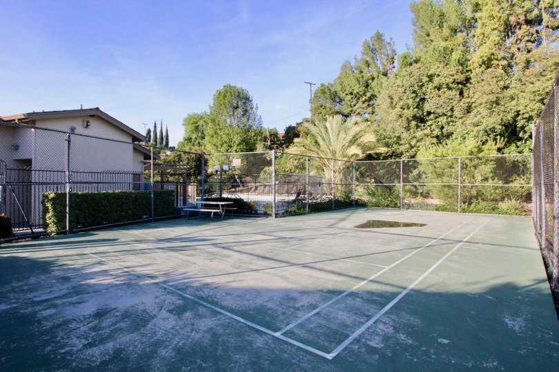 Outdoor sport court in Amberwood, Fullerton California