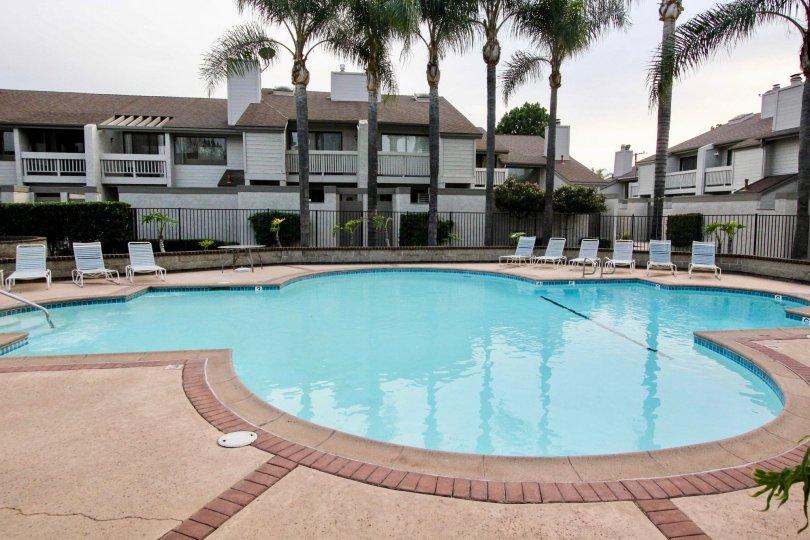 Beautiful house with pool in Chapman Villas in Fullerton, California.