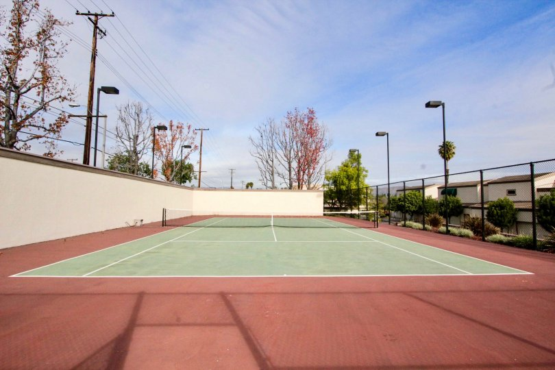 There is a well maintained tennis court at Greenview Terrace.