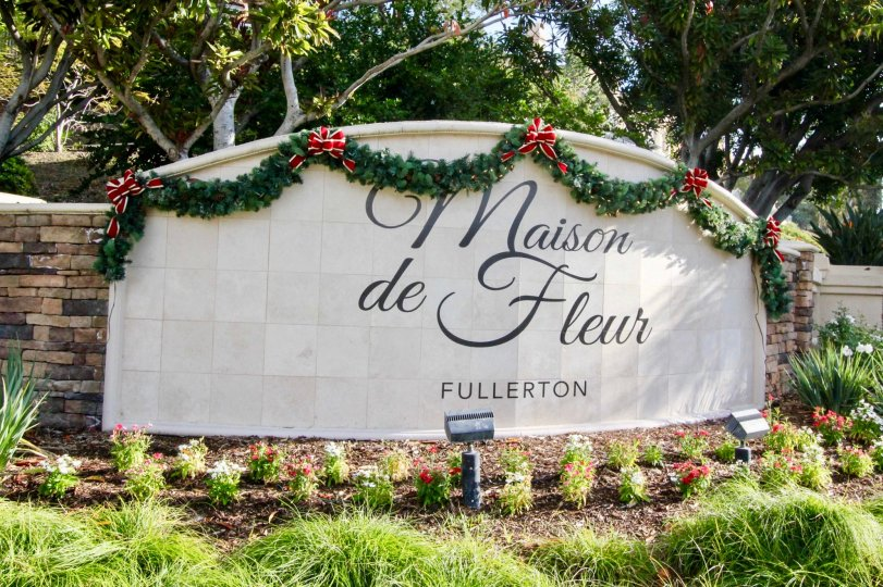 The entrance of Maison de Fleur in Fullerton California