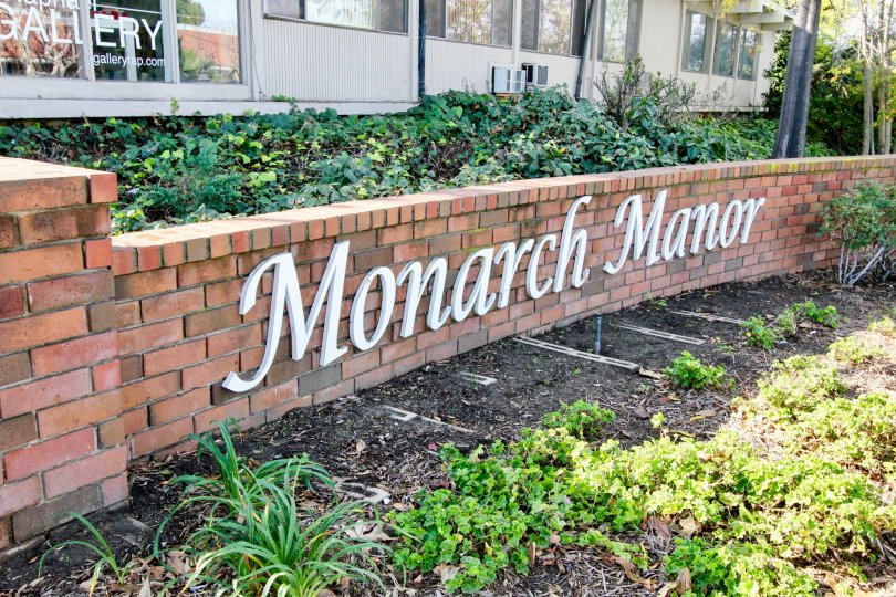 You won't miss the sign at Monarch Manor in Fullerton