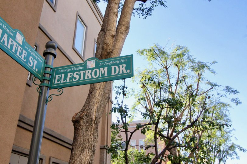 Two different street signs located in Studio Walk community.
