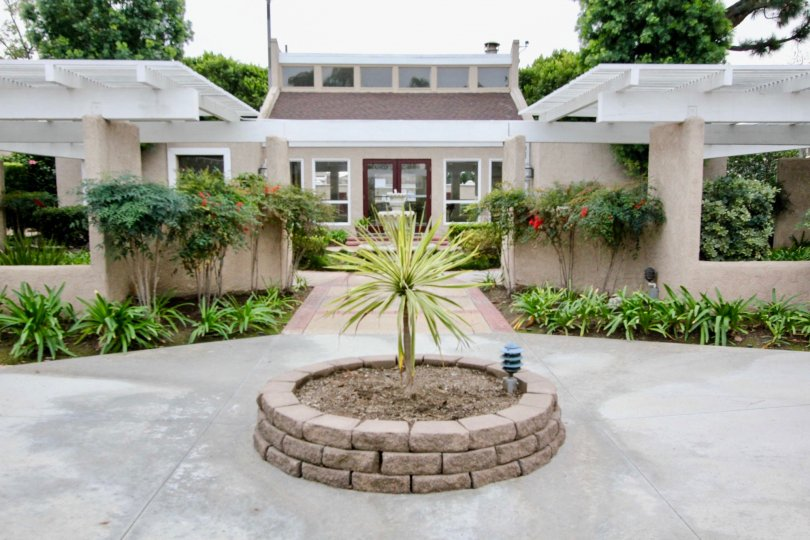 The Arbor Fullerton California grant look with broad roof and rare plants stick to its walls