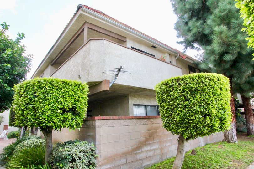 Side view of an apartment at Flower Tree in Garden Grove, CA