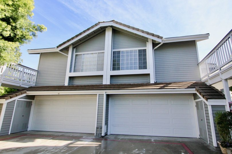 Large Windows and Garage Doors on Townhouse at Greenbrier Terraces in Garden Grove, CA