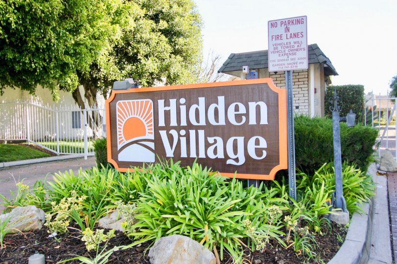 THIS IMAGE REPRESENTS THE ENTRANCE WAY TO HIDDEN VILLAGE WHICH IS SITUATED IN THE CITY OF GARDEN GROVE
