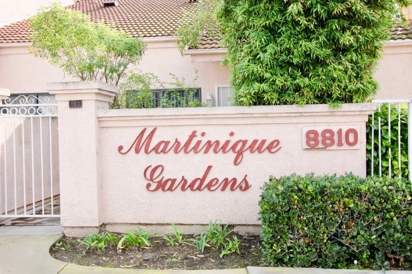 Martinique Gardens wall having beauty Location at Garden Grove city