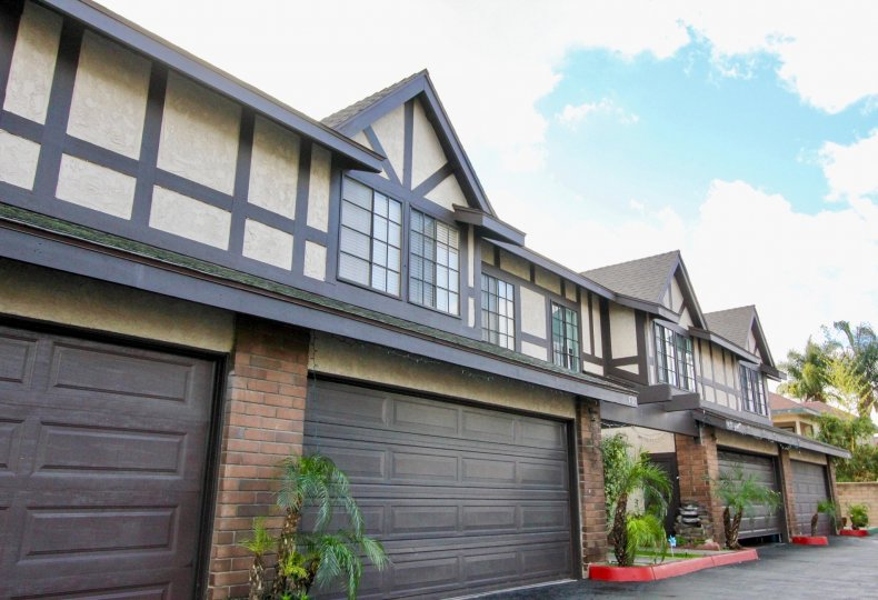 Brown color exteriors of well designed house in Tudor estates community