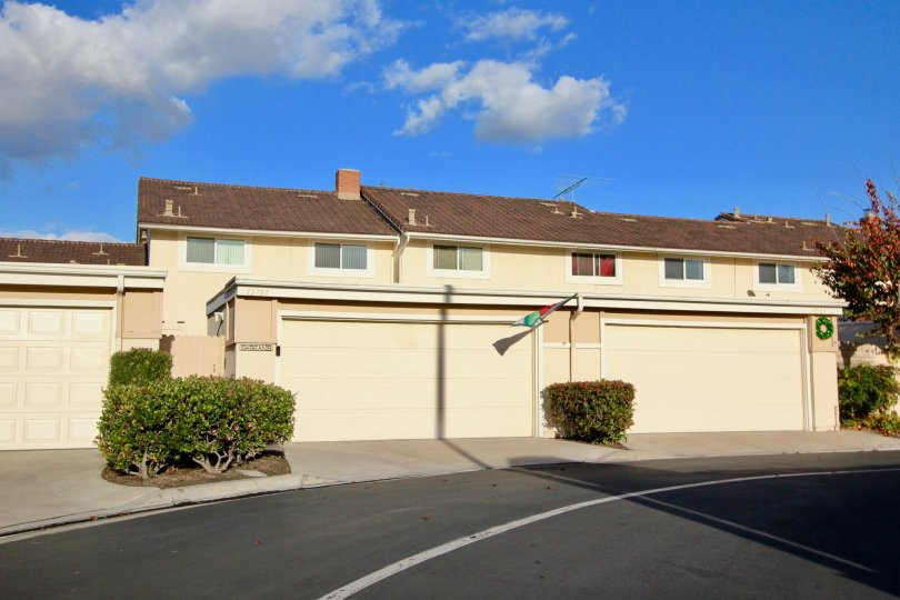 A warm summer day at the Valley View Park in Garden Grove, CA overlooking a duplex.
