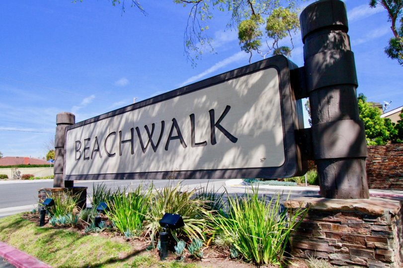 the huge name board which shows the name of that place as beachwalk which is in huntington beach, california