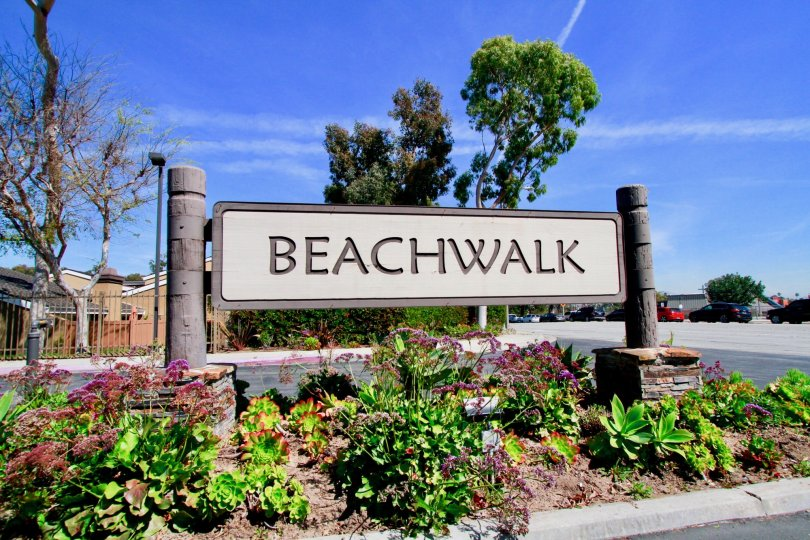 Beachwalk Huntington Beach California home fully cover name board beach walk name very big size letter
